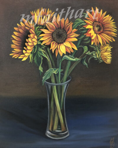 """""""Sunflowers"""" - 40x50cm - Oil on canvas - Private Commission - Sold"""