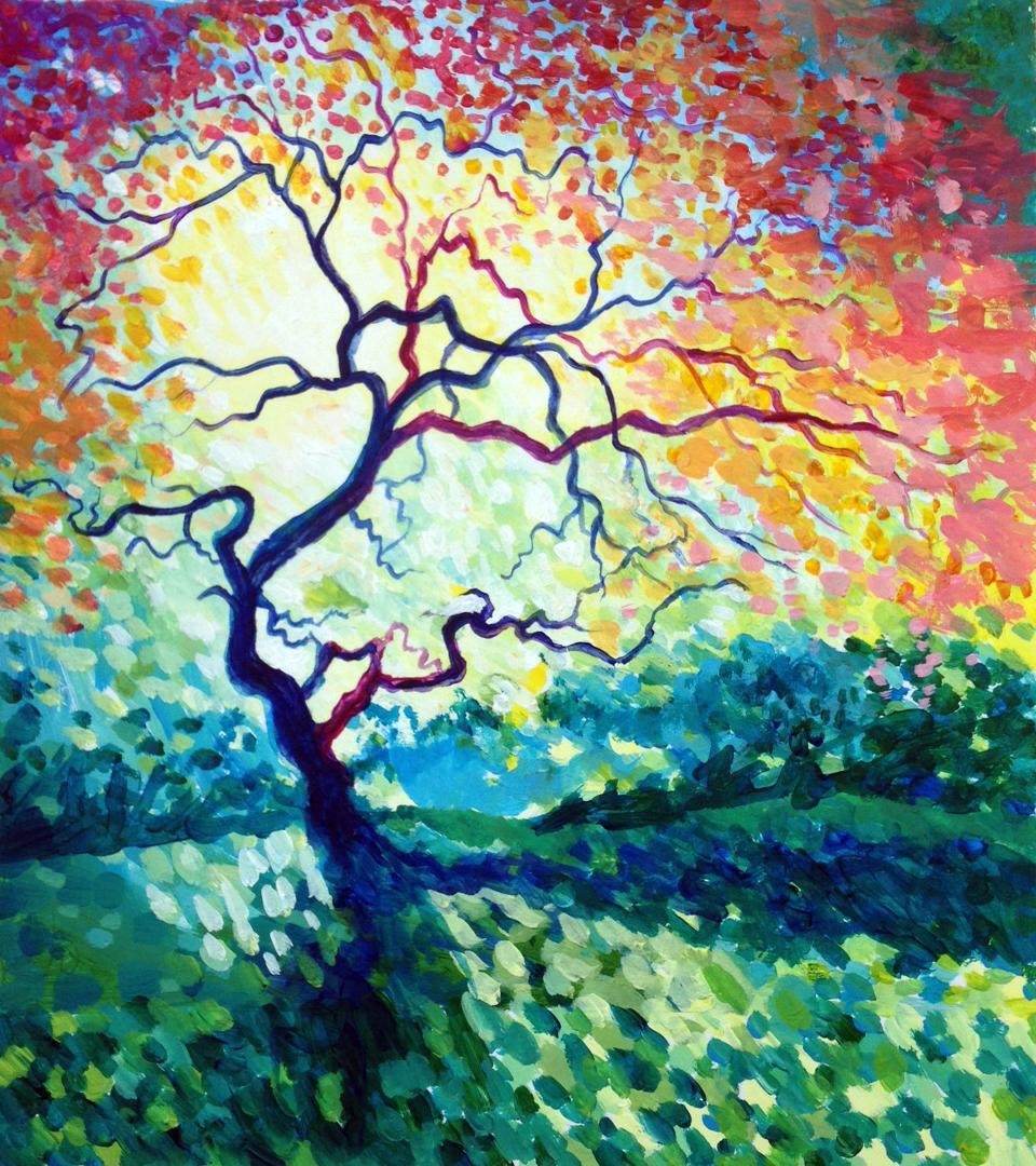 Dappled Light with Tree
