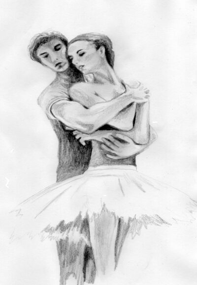 """Ballet Dancers"" - 2009 - Pencil - Sold"
