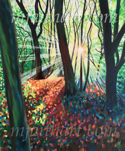 """A Place of Clarity"" - Acrylic on deep edge canvas - 50x61cm - Sold"