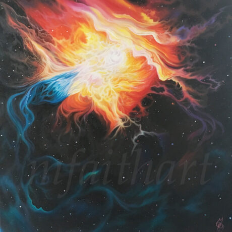 """Eta Carinae/Glory Spill"" - Oil on canvas - 100x100cm - For Sale - £650"