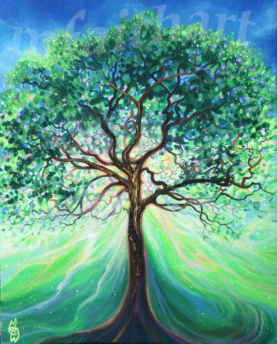 """""""Life Giving Tree"""" - 2020 - Acrylic on canvas - 40x50cm - for sale - £150"""