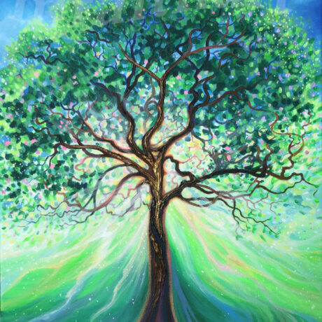 """Life Giving Tree"" - 2020 - Acrylic on canvas - 40x50cm - for sale - £150"