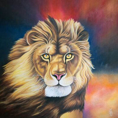"""""""The Lion of Judah"""" - 2018 - Oil on canvas - 61x61cm - Private commission - Sold"""