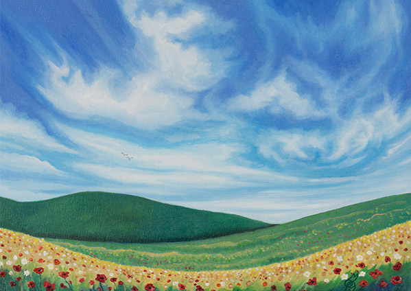 """Meadow Bliss"" - 2016 - Oil on canvas - 30x40cm - For Sale - £120"